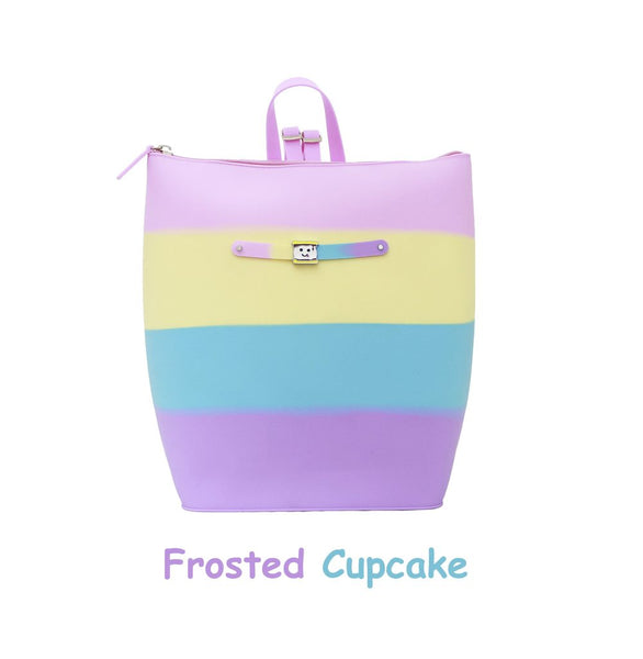 Yummy Gummy SCENTED Zipper Bucket Bag in Frosted Cupcake  (Toasted Marshmallow Scent)