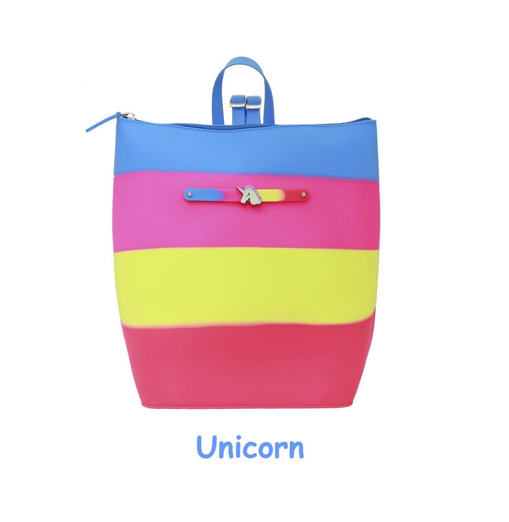 Yummy Gummy SCENTED Zipper Bucket Bag in Unicorn (Pineapple Scent)