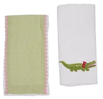 Maison Chic Gabby the Gator Double Burp Cloth Gift Set