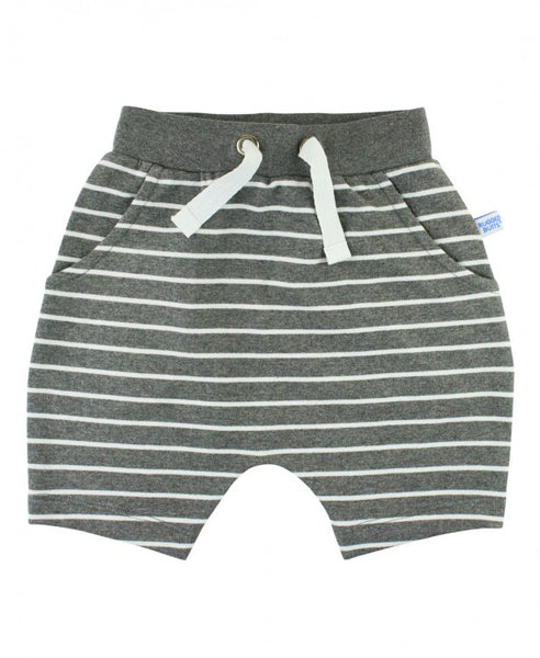 Rugged Butts Gray Striped Jogger Shorts