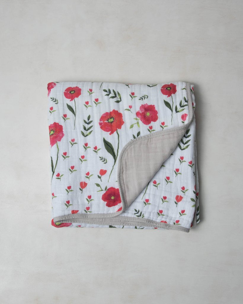 Little Unicorn Cotton Muslin Quilt - Summer Poppy - Little Jill & Co.
