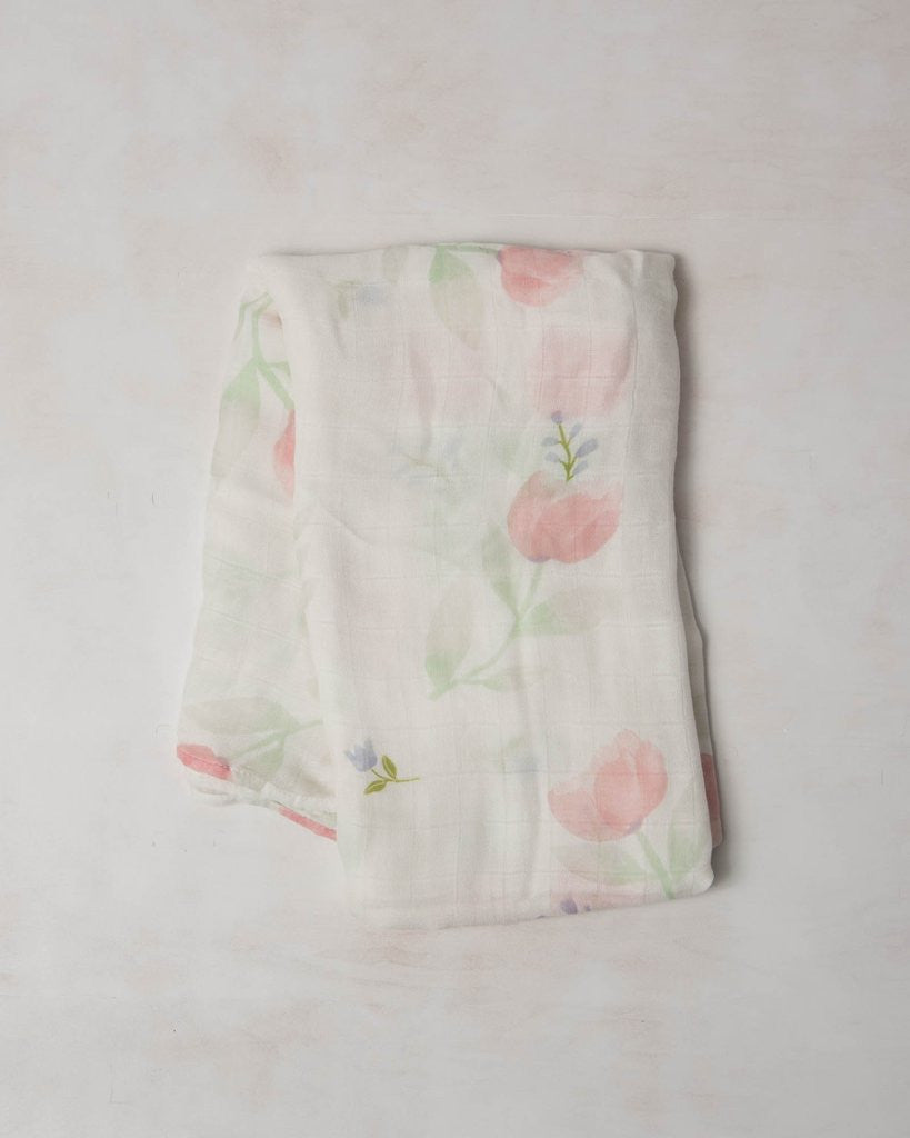 Little Unicorn Cotton Deluxe Muslin Swaddle Pink Peony