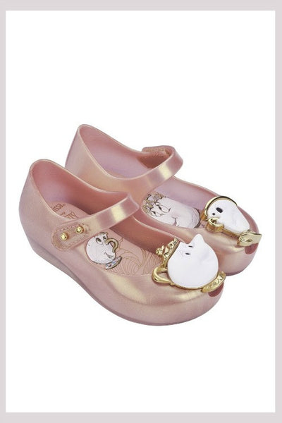 Mini Melissa Ultra Girl Beauty + Beast - Met Pink - 32191 - Little Jill & Co.