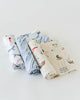 Little Unicorn Cotton Muslin Swaddle Shark 3 Pack