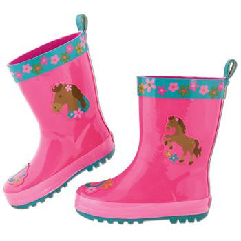 Stephen Joseph Rain Boots Girl Horse - Little Jill & Co.