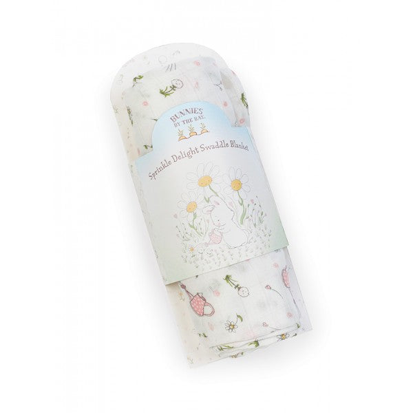 Bunnies By The Bay Sprinkle Delight Swaddle Blanket - Little Jill & Co.