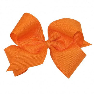 Wee Ones King Classic Hair Bow - Plain Wrap-Clip - Available In 16 Colors - Little Jill & Co.