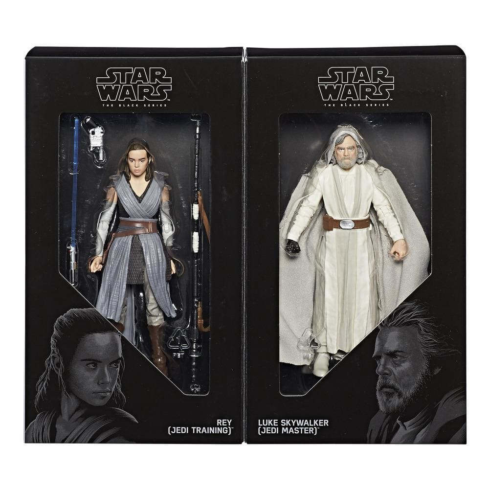 Luke Skywalker (Jedi Master) & Rey (Jedi Training): Convention Exclusive Star Wars Black Series 6""