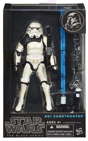 #01 Sandtrooper Star Wars Black Series 6""