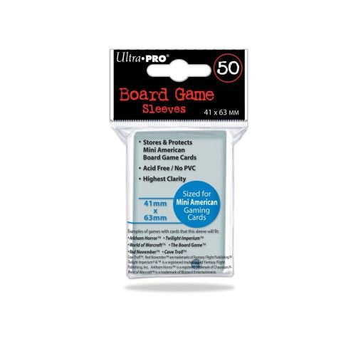 Ultra Pro - Mini American Card Sleeves 50CT - 41mmx63mm