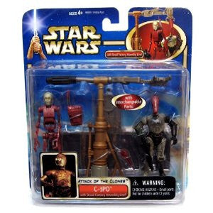 C-3PO Droid Assembly Line Star Wars Attack of the Clones 3.75""