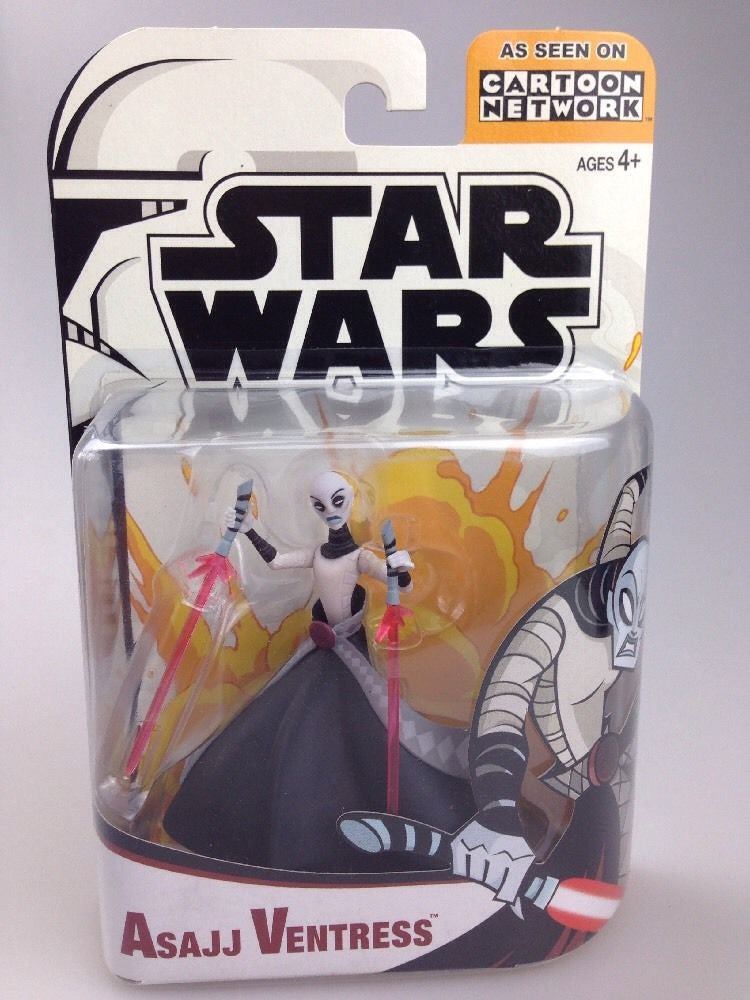 Asajj Ventress Star Wars Clone Wars Cartoon Network 3.75""