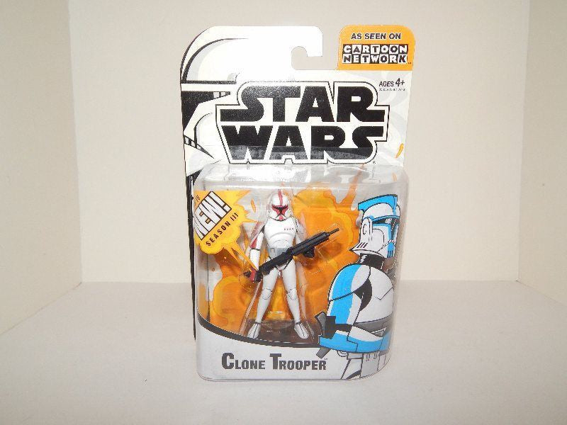 Clone Trooper Red Clone Wars Cartoon Network 3.75""