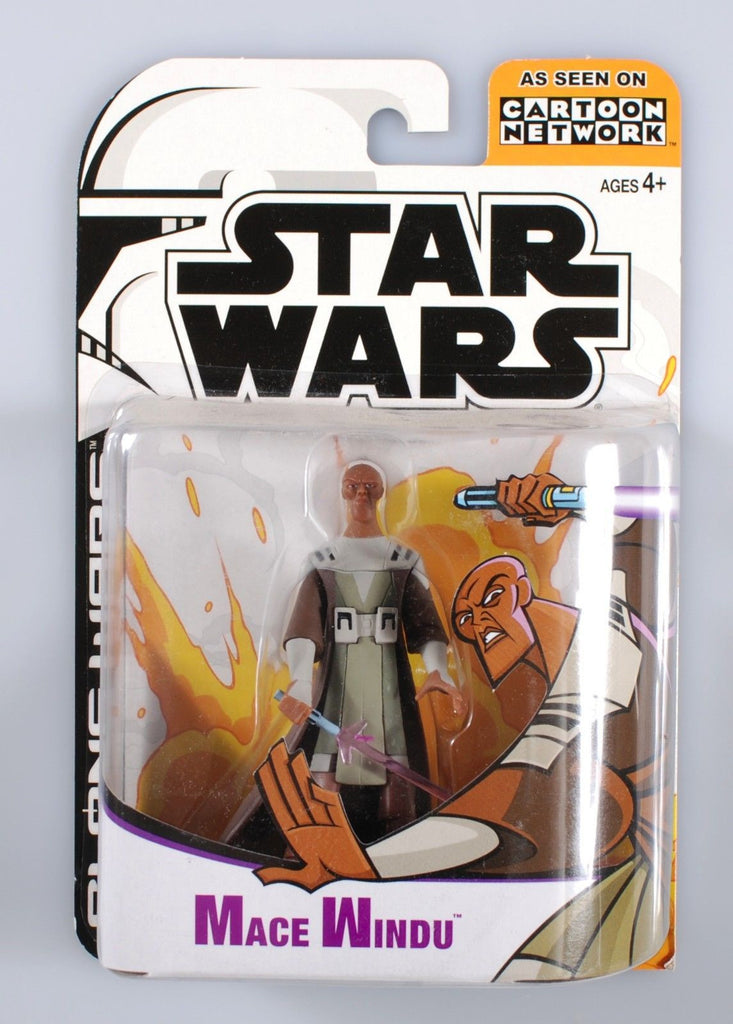 Mace Windu Kenobi Clone Wars Cartoon Network 3.75""