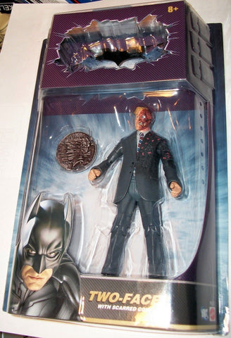 Batman The Dark Knight Two-Face Action Figure Scarred Coin Movie Masters