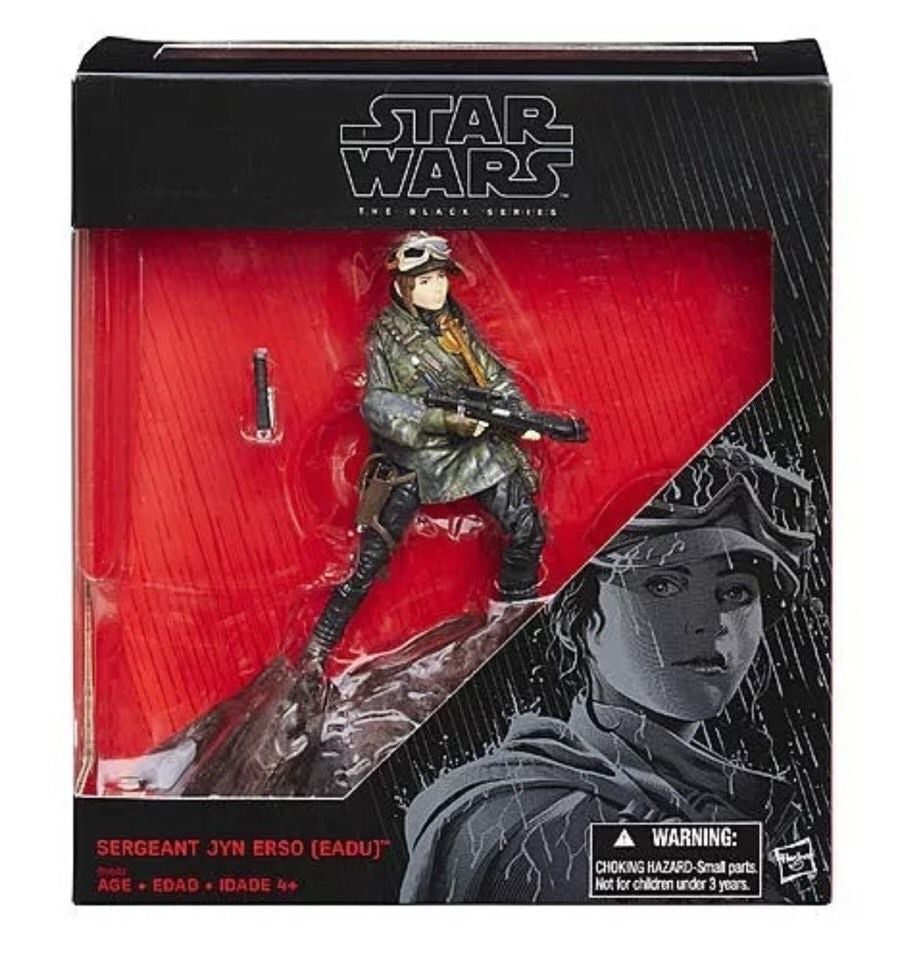 "Sergeant Jyn Erso (Eadu) Black Series Exclusive 6"" New"