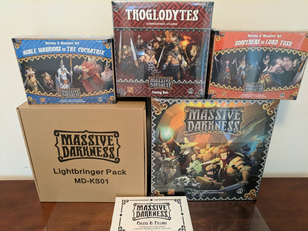 Massive Darkness Kickstarter Lightbringer Pledge