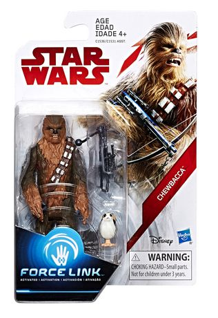 Chewbacca with Porg Star Wars Force Link 3.75""