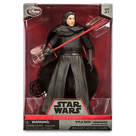 Kylo Ren Unmasked Elite Series Die Cast Action Figure - 7'' - Star Wars: The Force Awakens