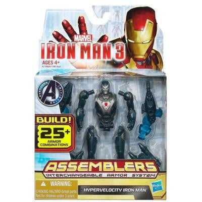 "Iron Man 3 Hypervelocity Iron Man ASSEMBLERS, 3.75"" Action Figure NEW"