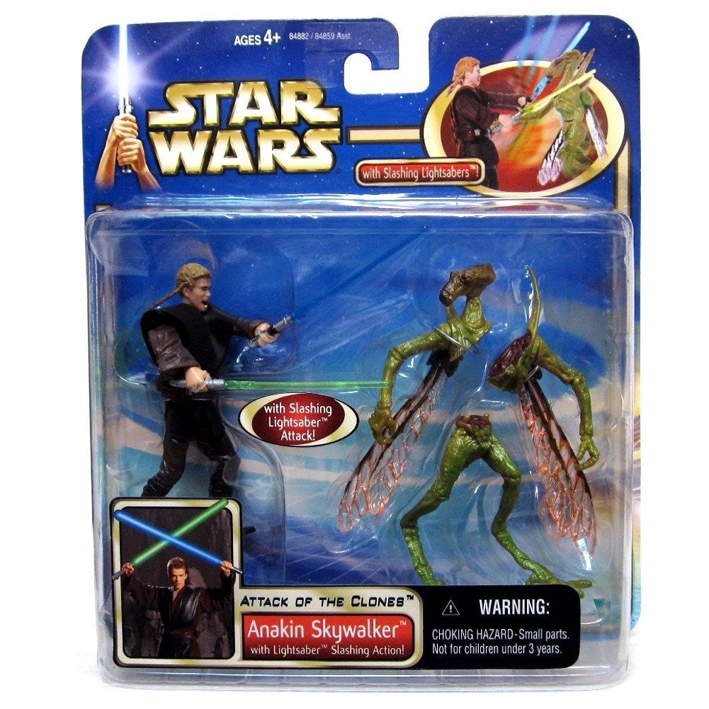 Anakin Skywalker Slashing Attack Geonosian Star Wars Attack of the Clones 3.75""