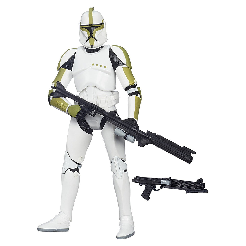 "#07 Green Clone Trooper Sergeant Phase I Star Wars Black Series 6"" Loose"
