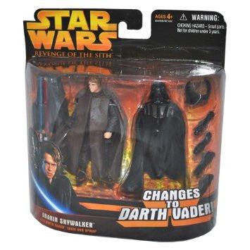 Revenge of the Sith Deluxe Anakin Skywalker Change To Darth Vader