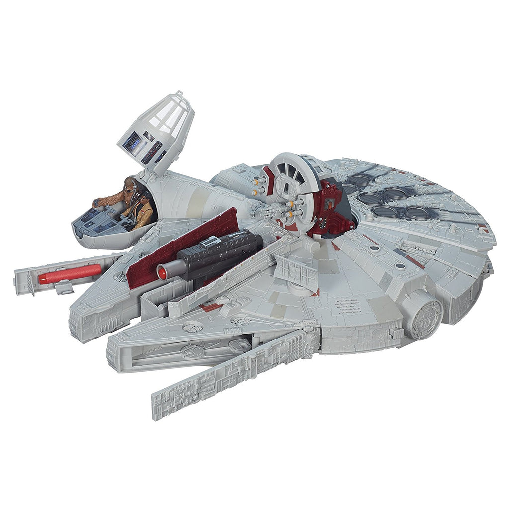 Star Wars The Force Awakens Battle Action Millennium Falcon LOOSE