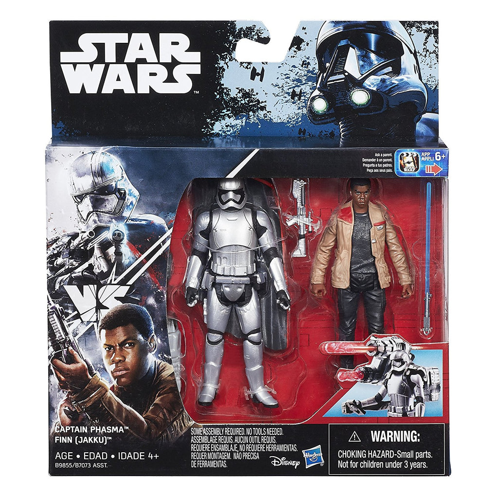 Captain Phasma vs Finn(Jakku) Deluxe Pack Star Wars 3.75""