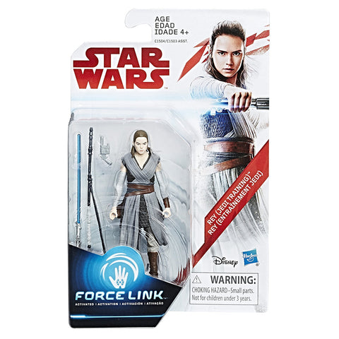 Rey (Jedi Training) Star Wars Force Link 3.75""