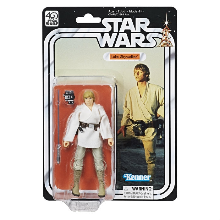 Luke Skywalker Star Wars Black Series 40th Anniversary 6""