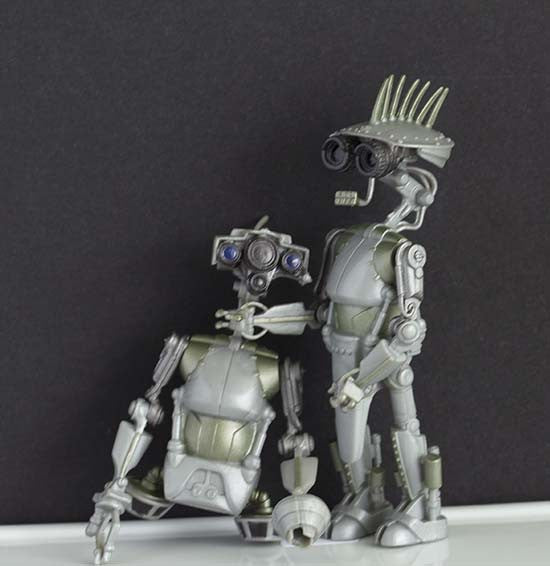 SP-4 & JN-66 Research Droids Star Wars Saga Loose
