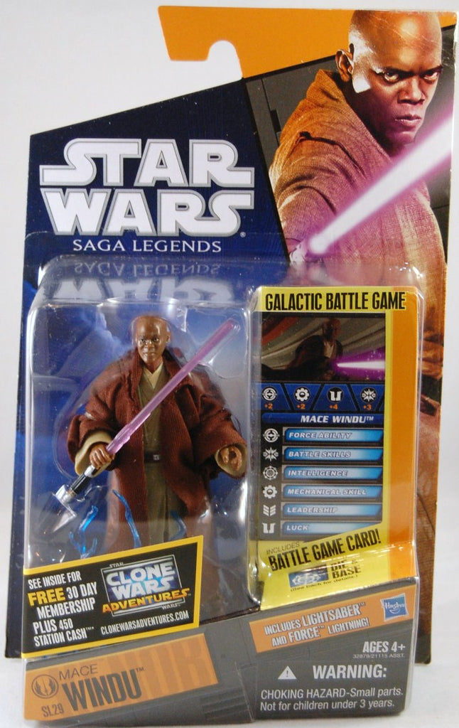 Mace Windu SL29 Star Wars Saga Legends 3.75""