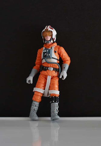 "X-Wing Pilot Luke Skywalker SAGA Legends 3.75"" (incomplete)"