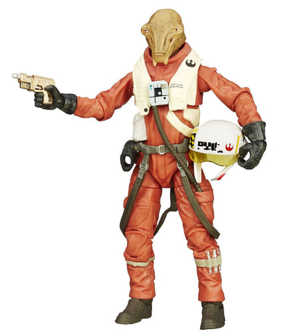 "#14 X-Wing Pilot Asty Black Series 6"" Loose"