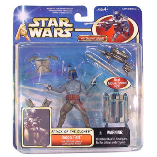 Jango Fett Electronic Jetpack Star Wars Attack of the Clones Deluxe 3.75""