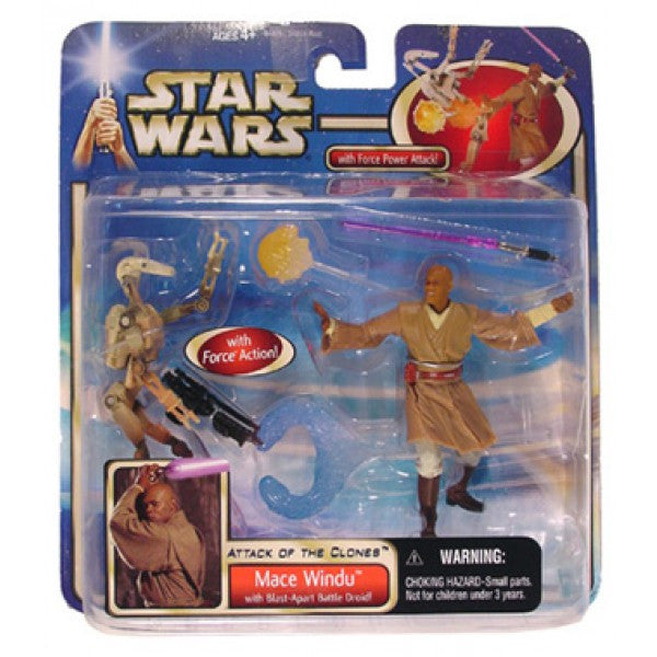 Attack of the Clones Deluxe Mace Windu Battle Droid