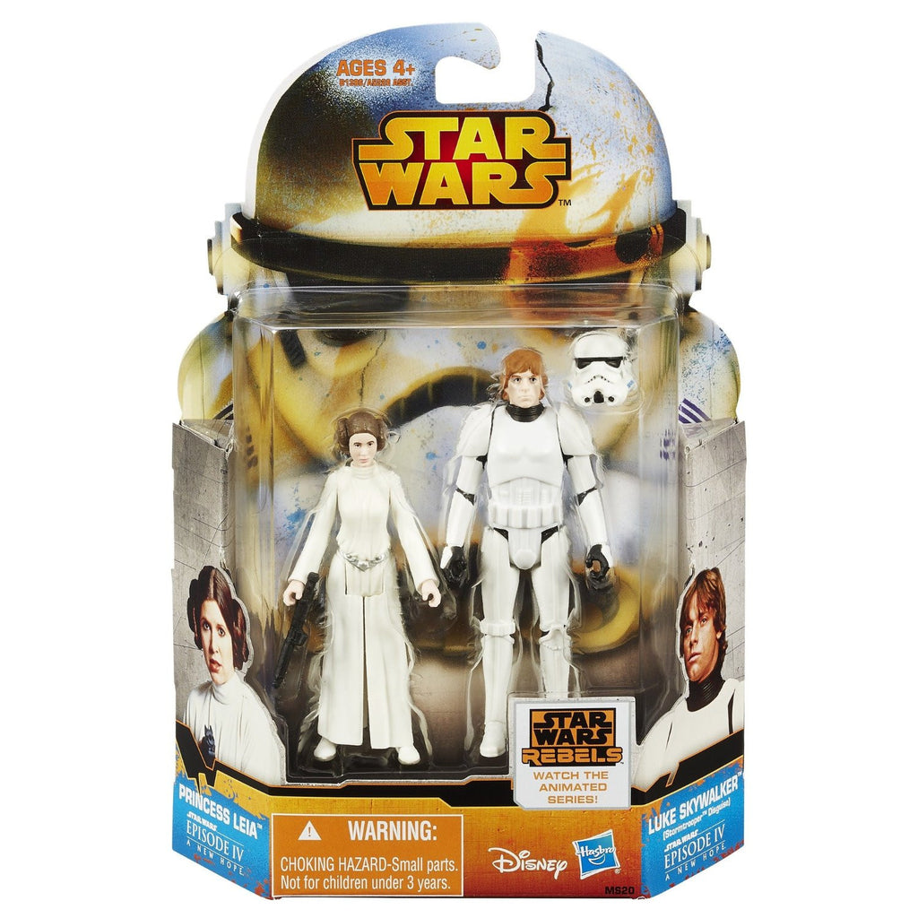 "Star Wars Rebels Saga Legends 3.75"" Mission Series Princess Leia Luke Skywalker"