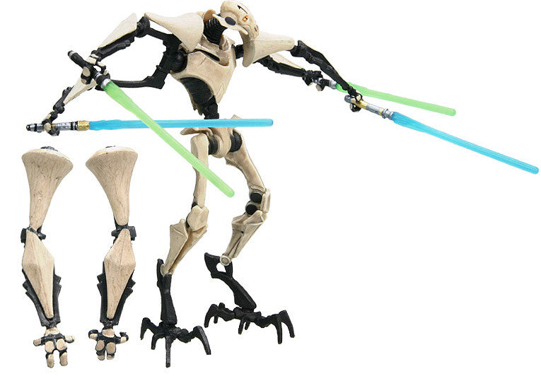"General Grievous Clone Wars No. 6 Interchangeable Arms 3.75"" Loose"