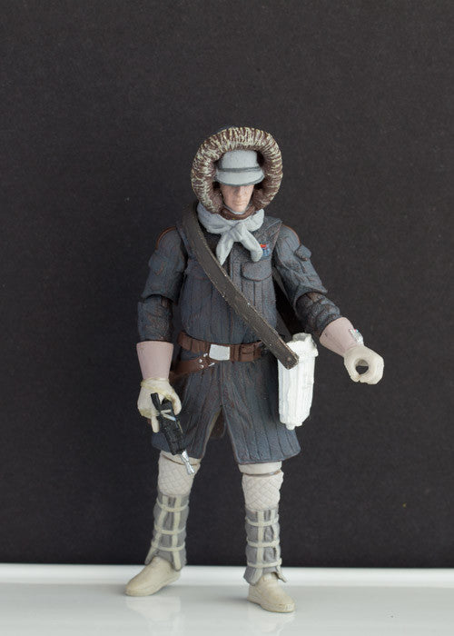 "HAN SOLO (HOTH ) - STAR WARS THE LEGACY COLLECTION, 2008 LOOSE 3.75"" (INCOMPLETE)"