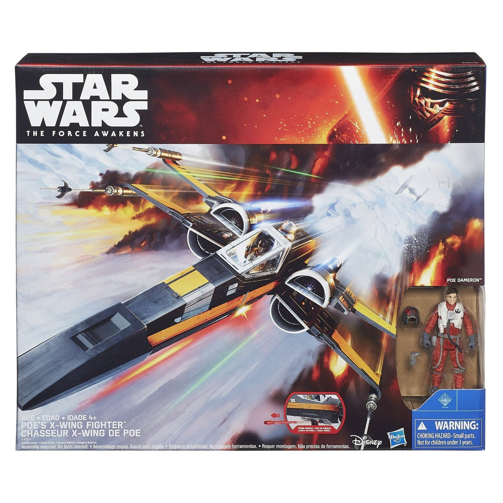 "Poe Dameron's X-Wing Fighter Star Wars The Force Awakens 3.75"" (open box)"