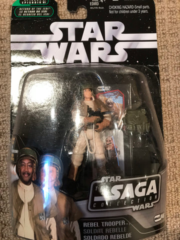 "#046 Rebel Trooper Star War SAGA Collection 3.75"" (creased)"