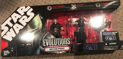 Star Wars Evolutions Vader's Secret Apprentice Force Unleashed Sith Lord Jedi Knight Secret Apprentice 3.75""