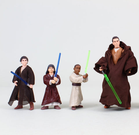 "Star Tours Jedi Training Academy Jedi Master Jedi Padawans Star Wars 3.75"" Loose"