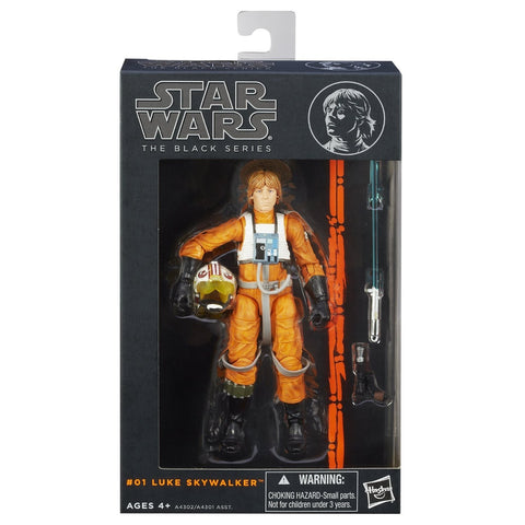 #01 X-Wing Pilot Luke Skywalker Star Wars Black Series 6""