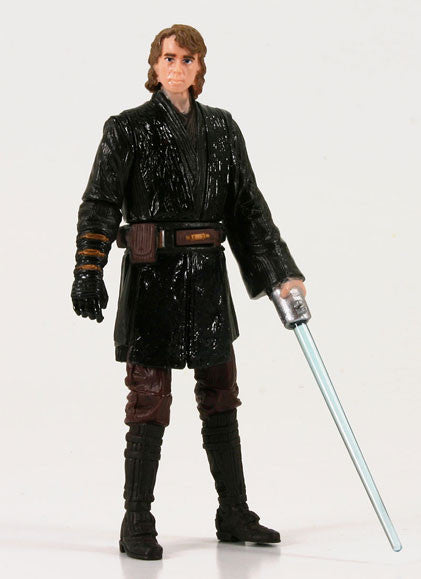 "Anakin Skywalker Light Up Lightsaber Star Wars Movie Heroes 3.75"" Loose"