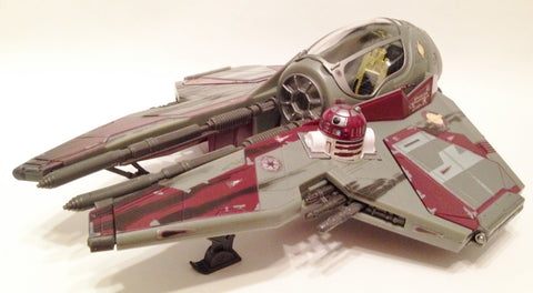 Obi-Wan Kenobi's Starfighter 30th Anniversary Version 2 Loose (incomplete)