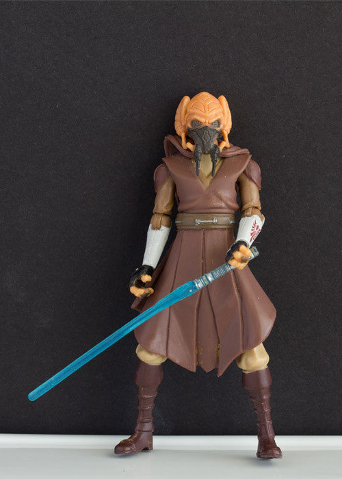 "PLO KOON (CLONE WARS) 14 - STAR WARS THE CLONE WARS COLLECTION, 2008 LOOSE 3.75"" (INCOMPLETE)"