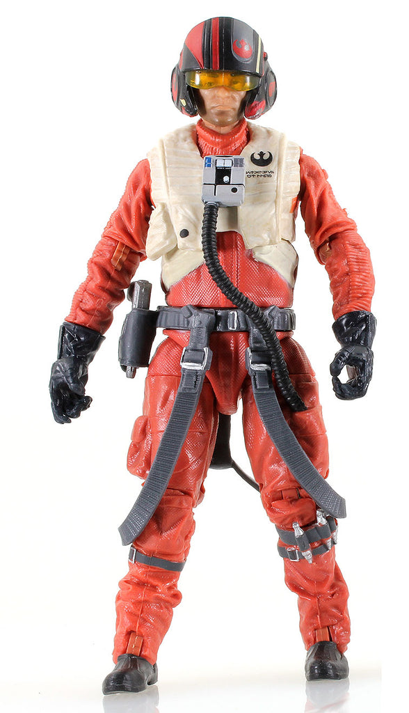 "#07 Poe Dameron X-Wing Pilot Black Series 6"" Loose"