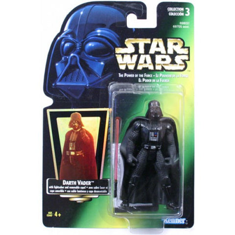 "Darth Vader Short Saber POTF2 3.75"" (green card)"